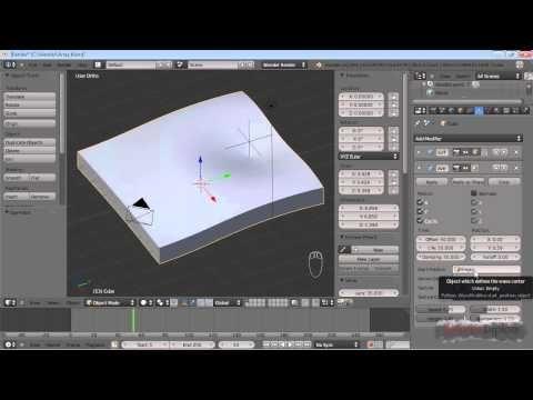 Blender Tutorial: Wave Modifier - YouTube | Software