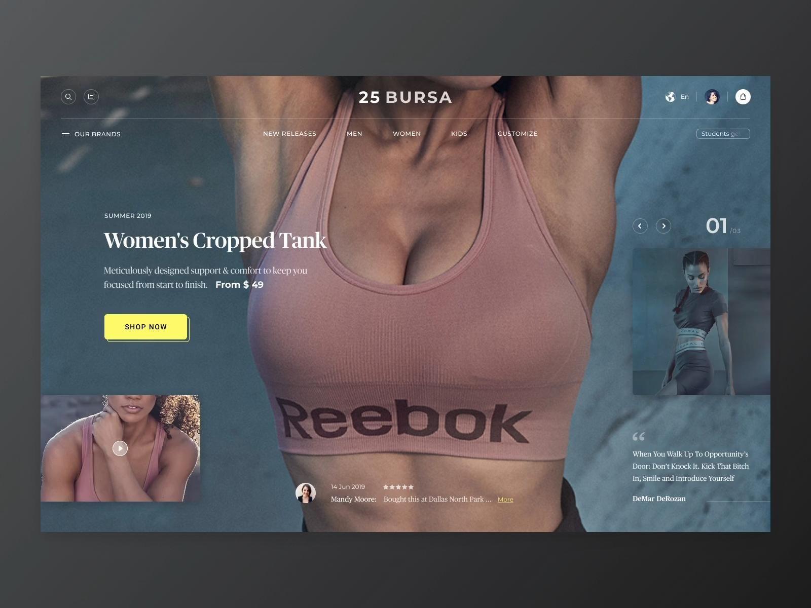 Ecommerce Website Design | Web Design Inspirations -   fitness Design website