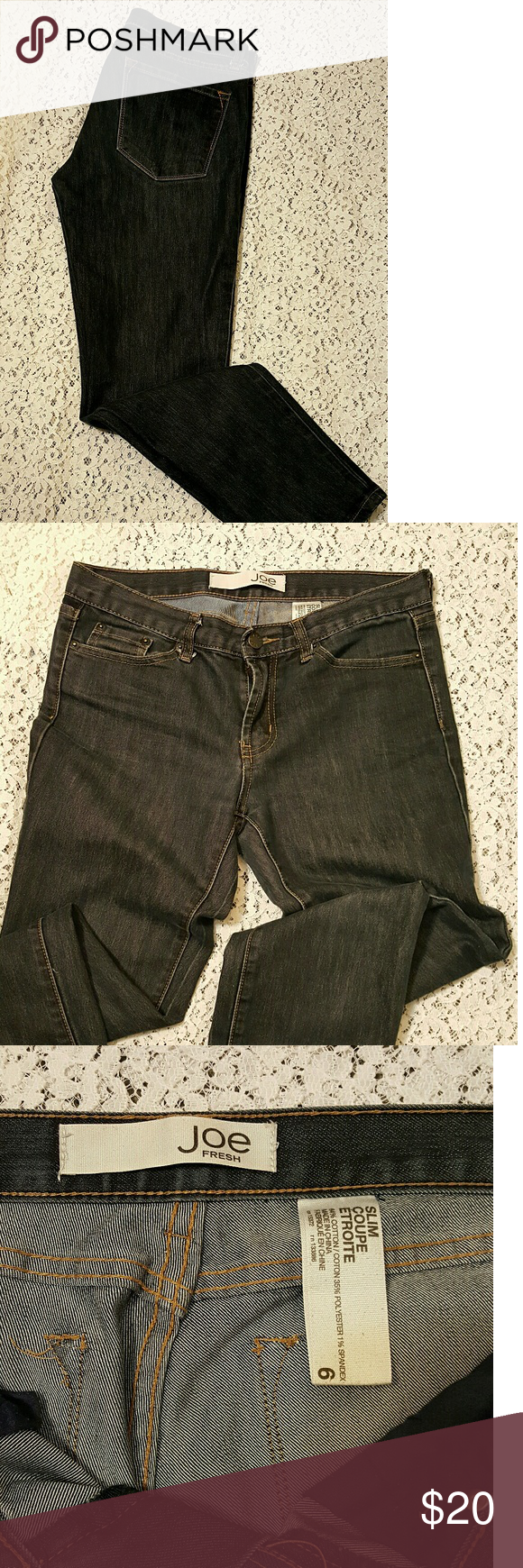a5e2312475 Joe Fresh slim, Size 6, low rise, skinny leg Joe Fresh slim jeans, Size 6,  low rise, skinny leg, a nice dark Indigo Blue wash. They appear to be in  like new ...
