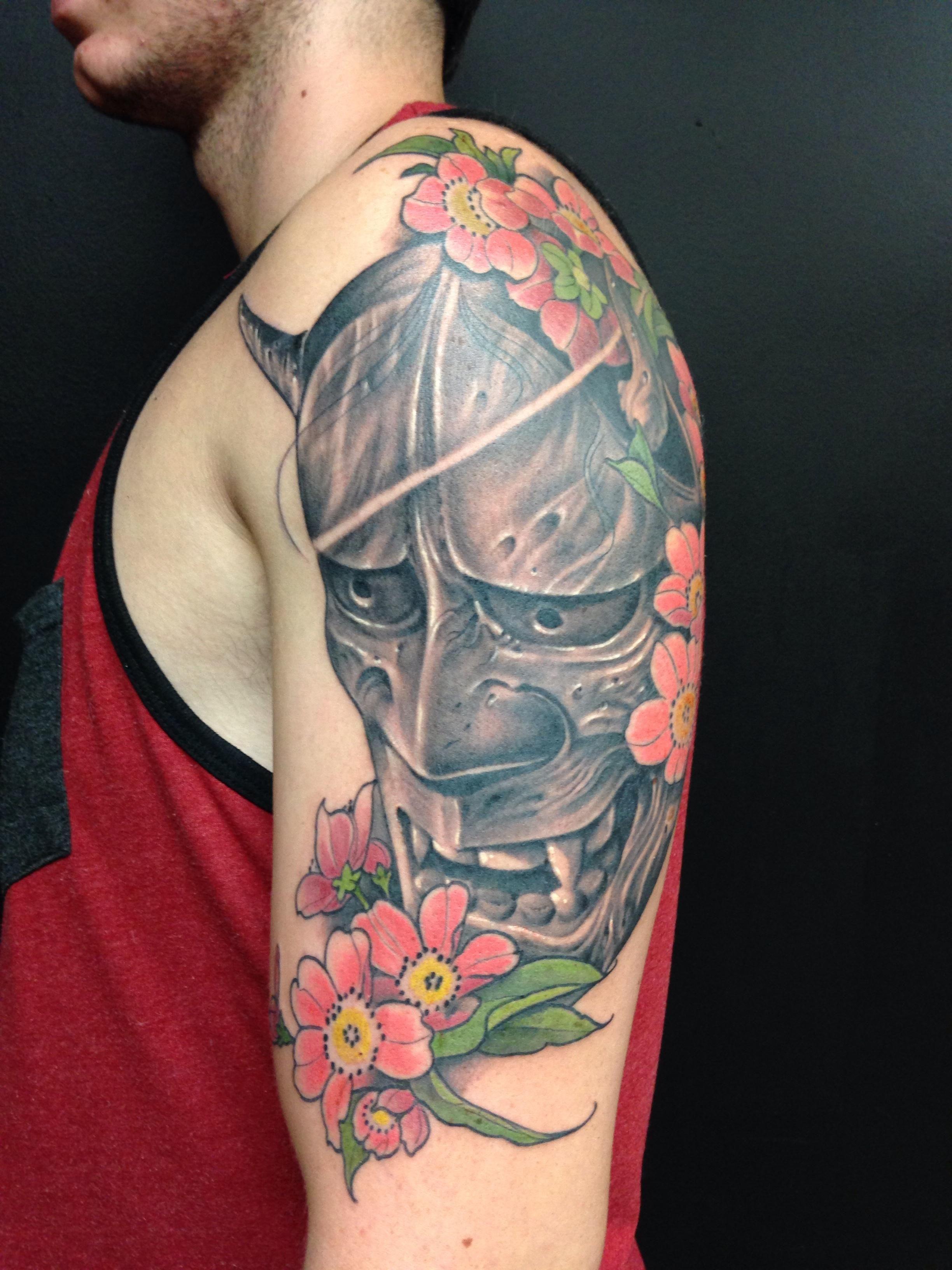 1st tattoo hannya mask shay bredimus outer limits tattoo long