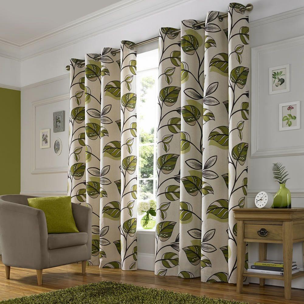 wilko shadow leaf curtain 167x183cm interior design. Black Bedroom Furniture Sets. Home Design Ideas