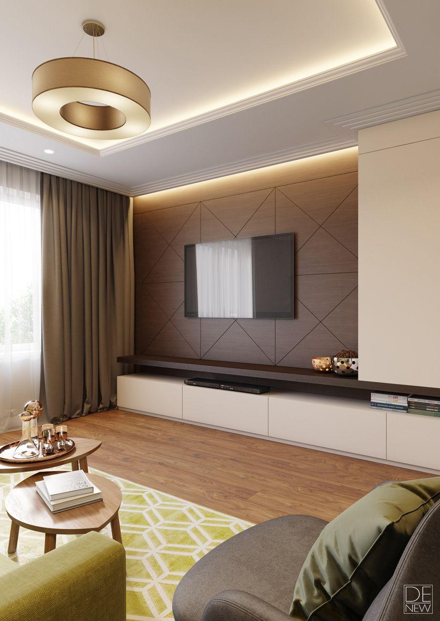 Living Room Cabinet Design Ideas: Проект квартиры в Москве On Behance