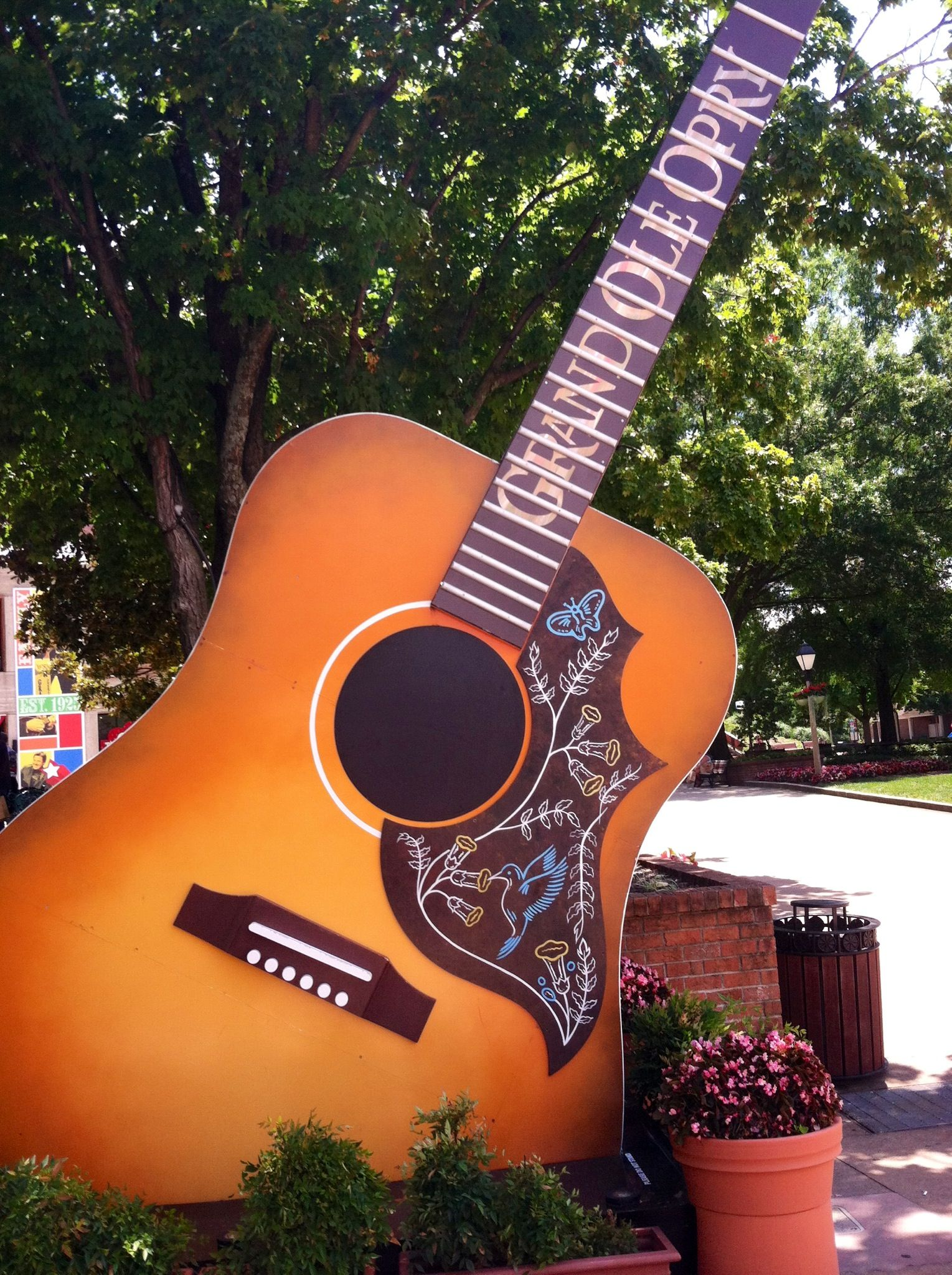 Guitar In Front Of Grand Ole Opry House