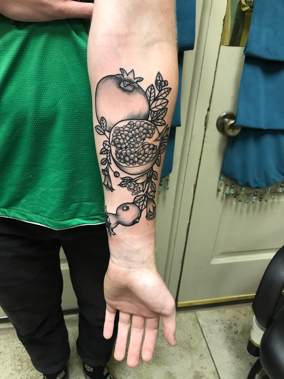 Pomegranate Tattoo I Got From Eddie Molina At Dark Age Tattoo In