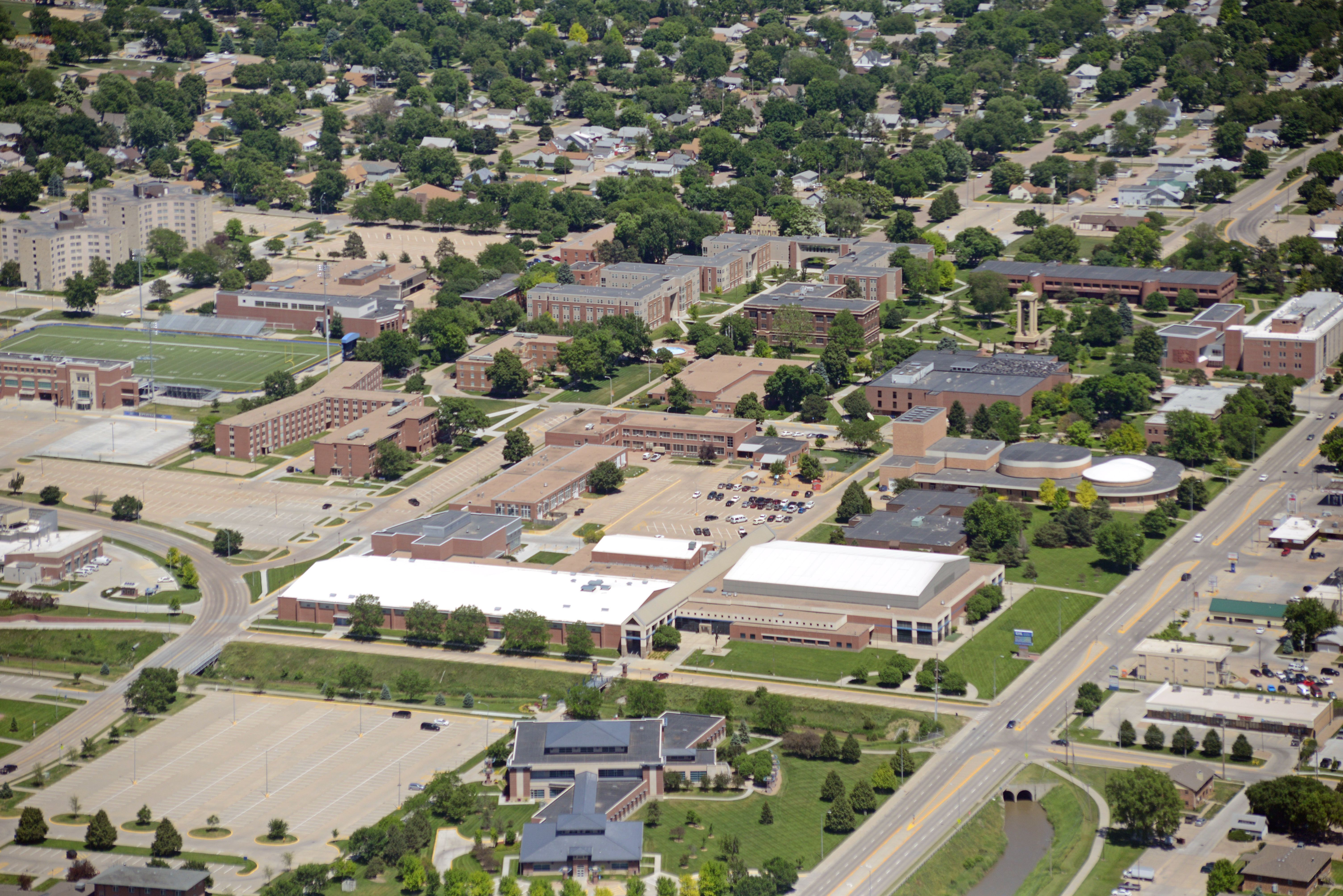 University of Nebraska at Kearney campus by air (With