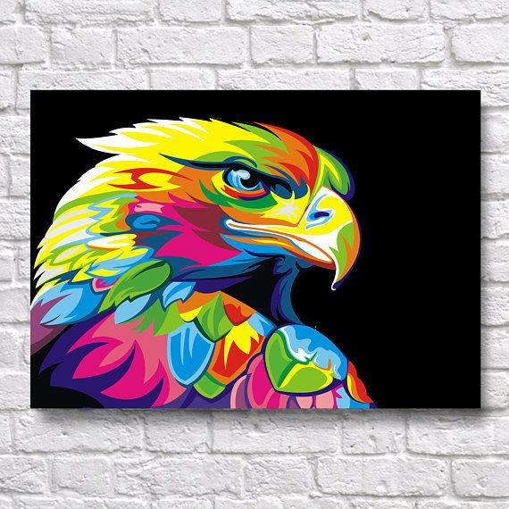 Exceptionnel Abstract Eagle POP-ART - Animal & Birds WPAP A3 A4 Wall Art Prints  QE72