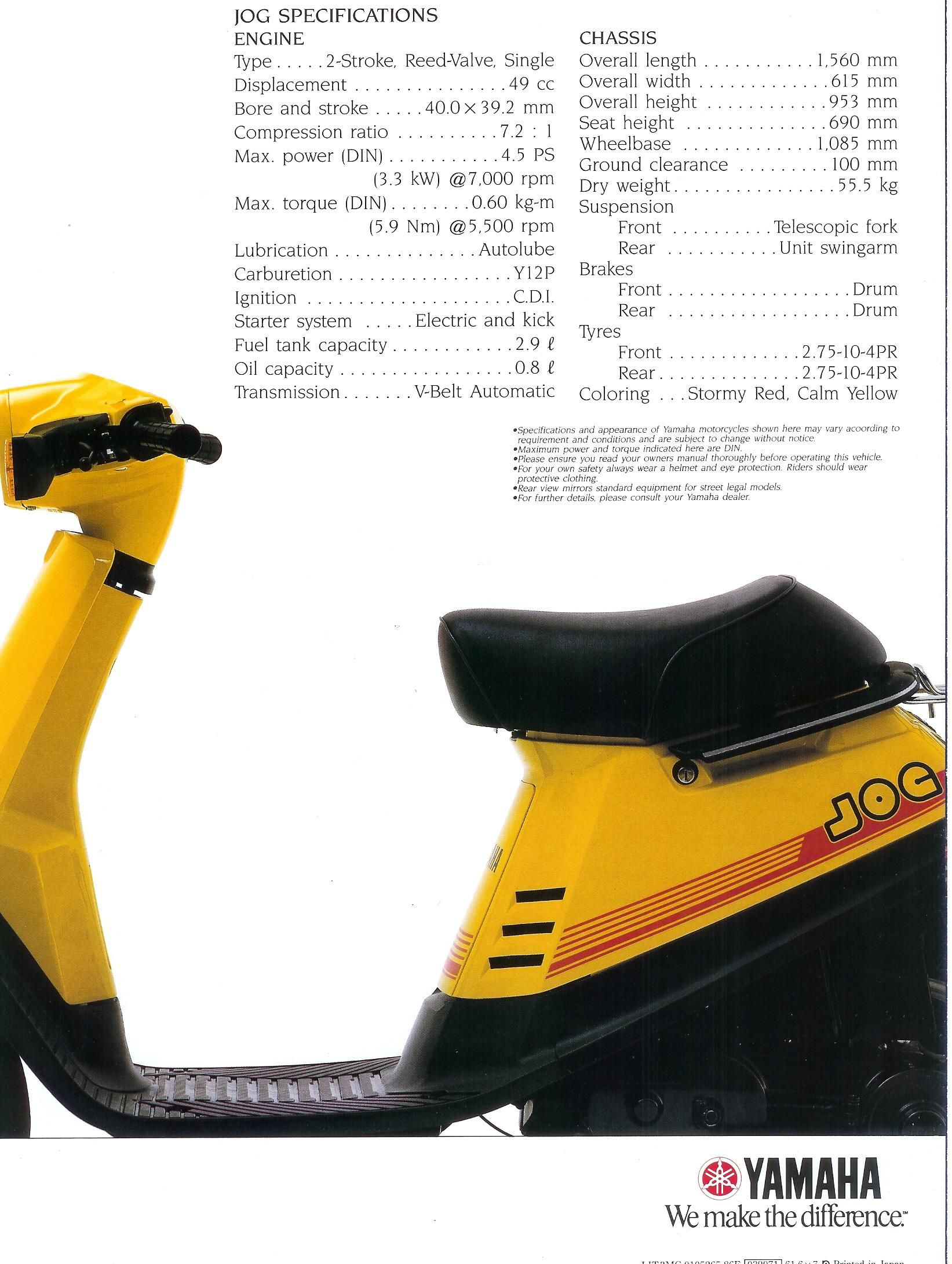 [GJFJ_338]  0FD2ED Manual Yamaha Jog 50cc Scooter   Wiring Library   1992 Yamaha Jog Wiring Diagram      Wiring Library