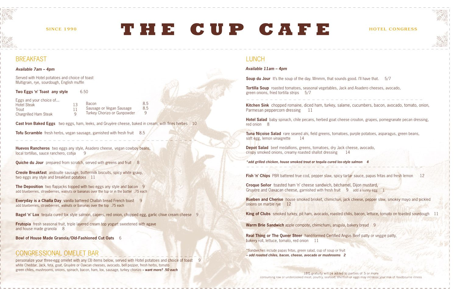Tucson, AZ - Cup Cafe in the Hotel Congress