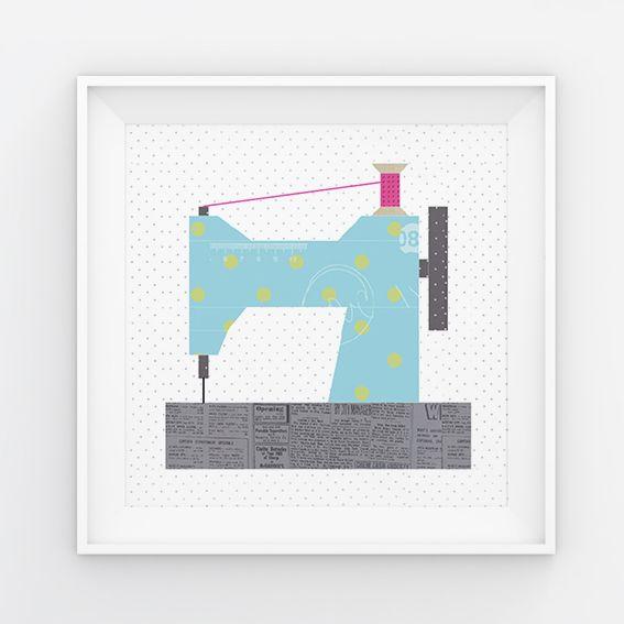 Foundation Paper Piecing Block als Wall Art für Quilter, Vorlage zum ...