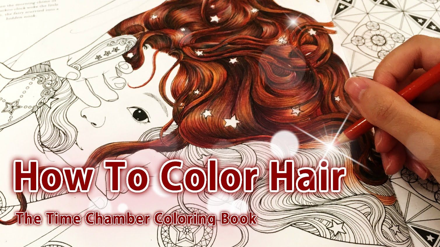 How to color hair | Adult coloring book: The time chamber by Daria ...