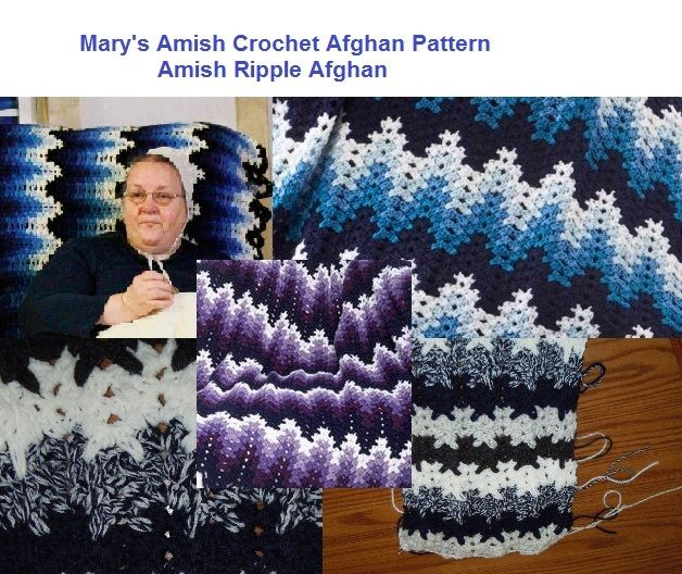 Breaking Amish Mary\'s Crochet Afghan Pattern ripple | Manta, Gaby y ...