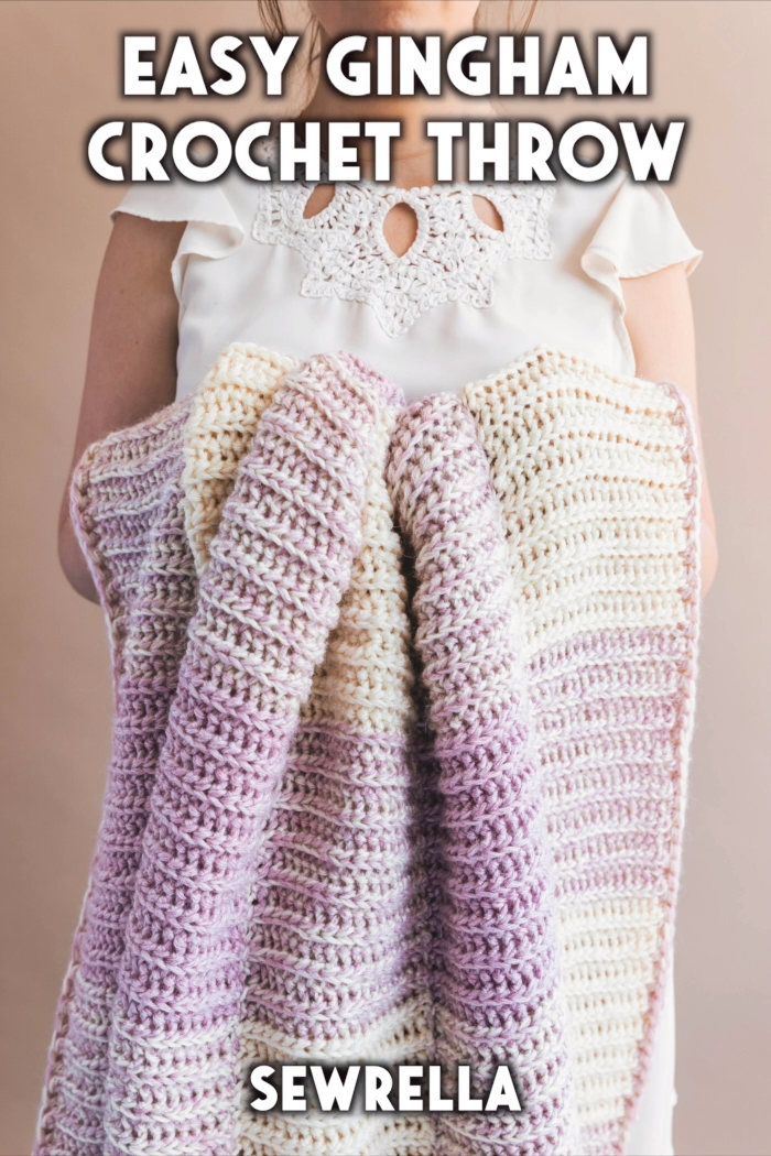 Photo of Easy Crochet Gingham Throw – free pattern