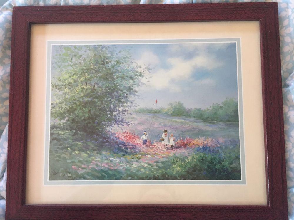 Rare Nora Debolt Rare Litho Print 11x17 Matted Frame Ebay Like
