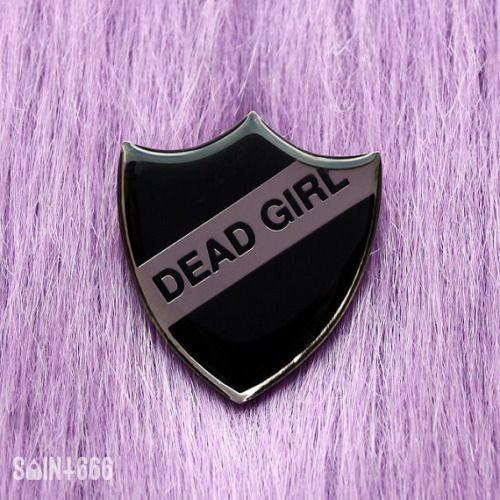 dead girl badge  pastel goth nu goth punk goth grunge fachin pin aessories under10 under20 under30 etsy