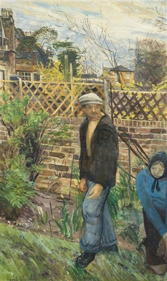 The Tense Moment By Carel Weight Oil On Canvas Laid On Board