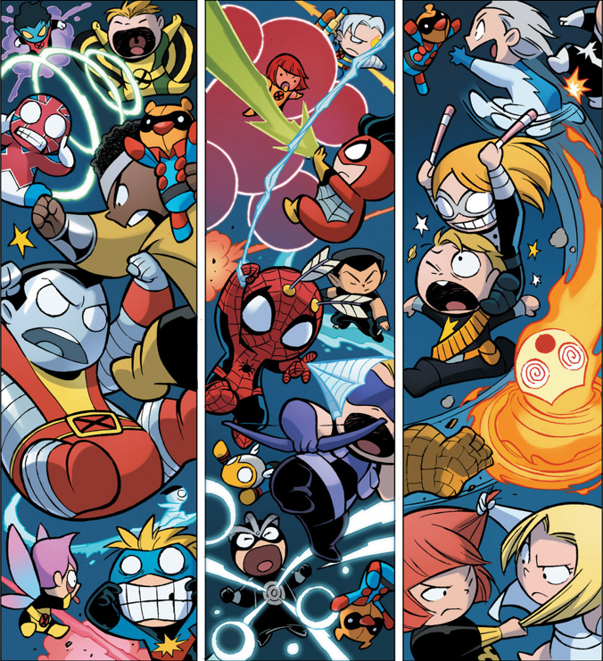 Avenger babies vs X-Men babies by Skottie Young