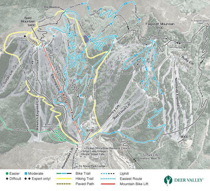 Moab Trail Maps For Hiking Biking And 4x4 Mountain Bike Trails
