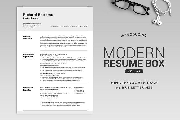 This is an especially designed Resume pack for any profession - reference for resume