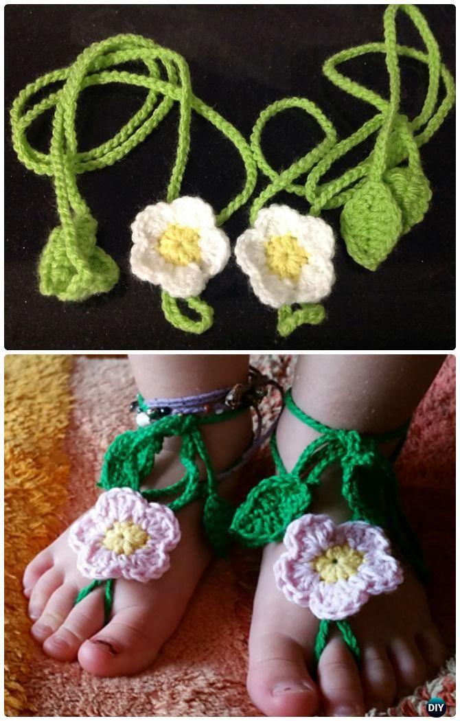 15 Crochet Barefoot Baby Sandals Free Patterns Crochet Baby Sandals Crochet Crochet Baby