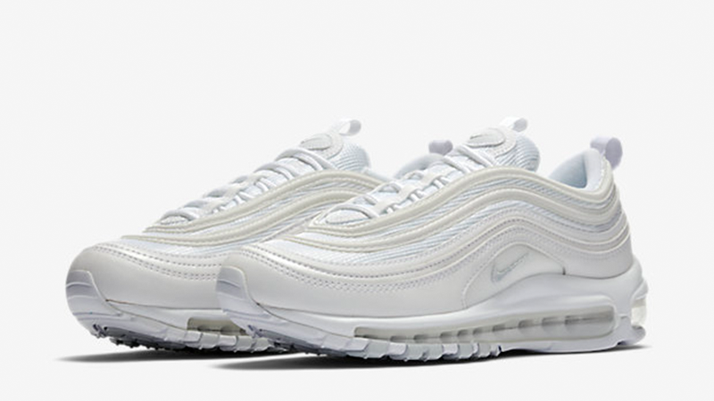 Nike Air Max 97 Triple White Womens  e4ed3d9bf23f