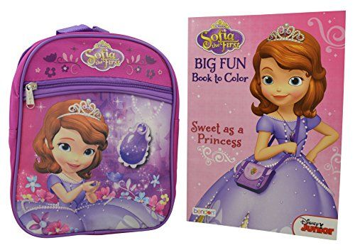 655d1ebfa3c Disney Sofia the First 2 Pieces Gift Set 10 Mini Backpack with Coloring  Book     Details can be found by clicking on the image.