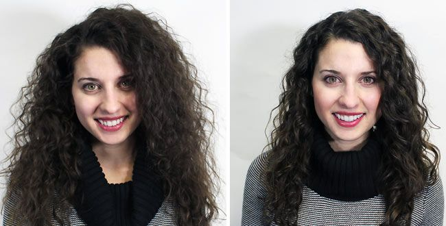 What A Brazilian Blowout Looks Like On Curly Hair And Coily And Wavy Curly Hair Styles Brazilian Blowout Blowout Curls