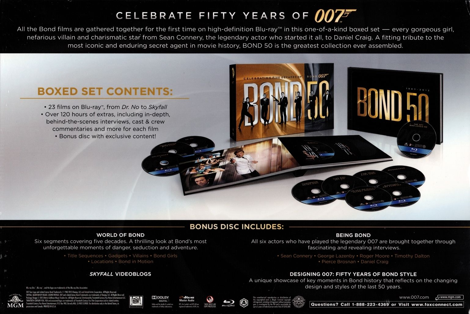 Bond 50 Blu Ray Blu Ray