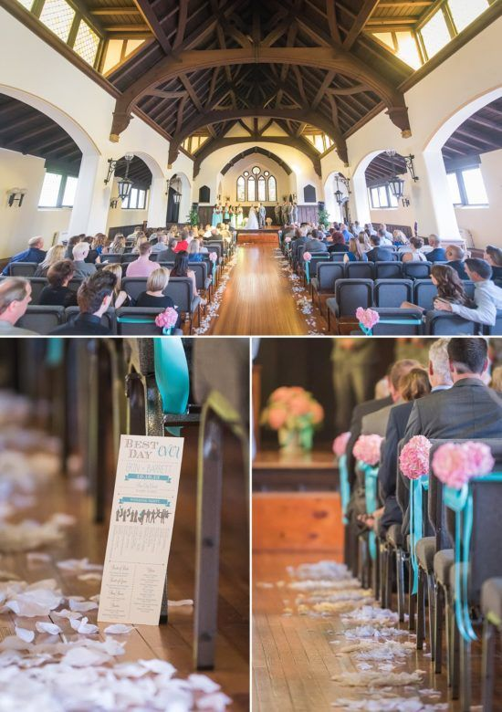 The Ceremony Took Place At Brew City Church And Cost 800 Also Pictured Are Flowers From Belle Fiori Programs Coqui Paperie Gifts