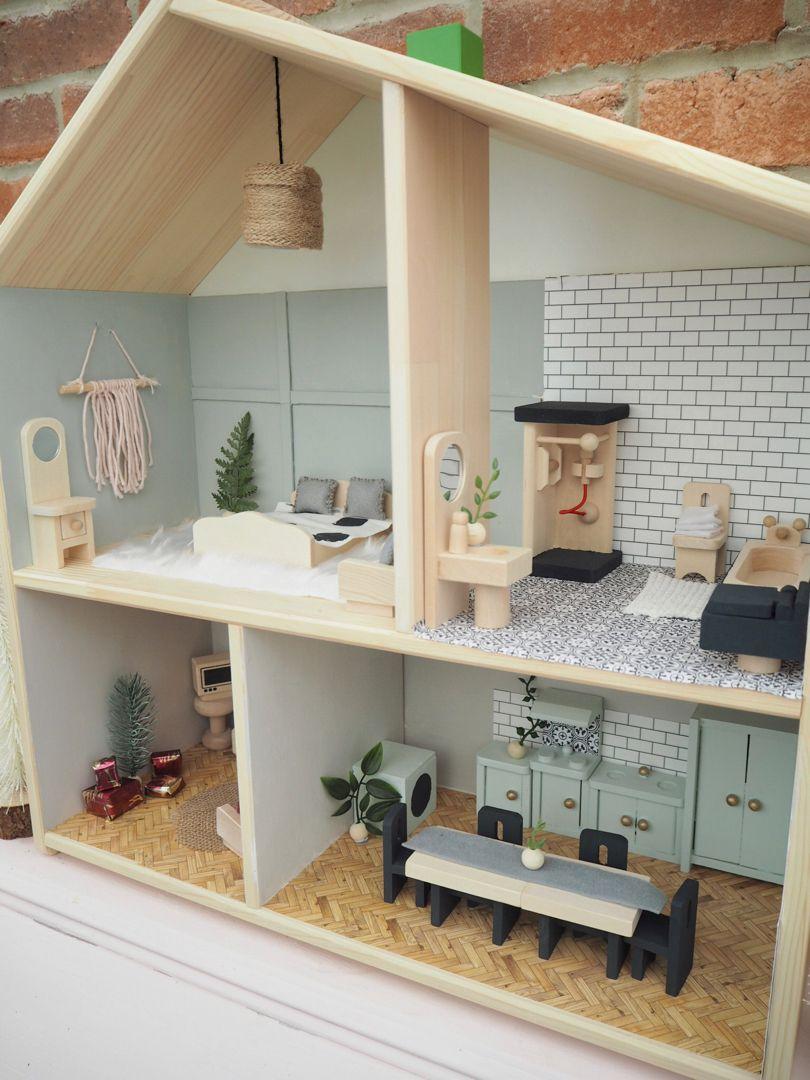 DIY Doll House Makeover IKEA Flisat hack