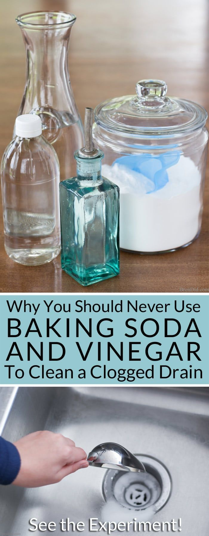 Why You Should Never Use Baking Soda u Vinegar to Clean Drains