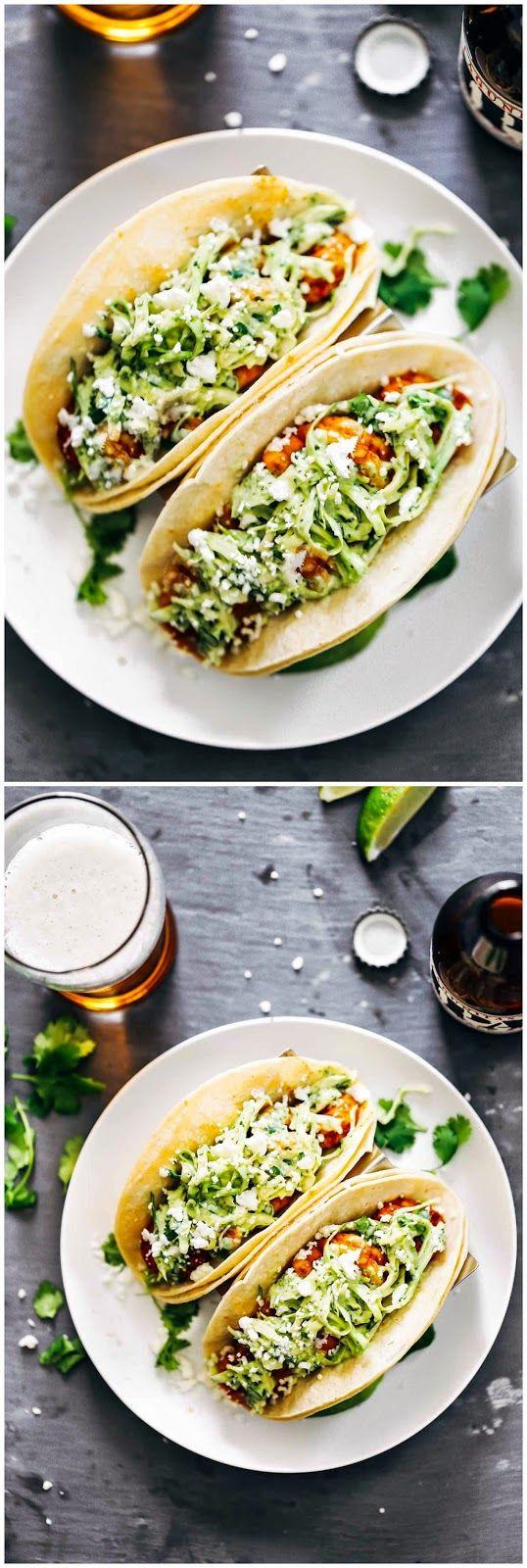 Spicy shrimp tacos with garlic cilantro lime slaw easy food recipe spicy shrimp tacos with garlic cilantro lime slaw easy food recipe blog forumfinder Images
