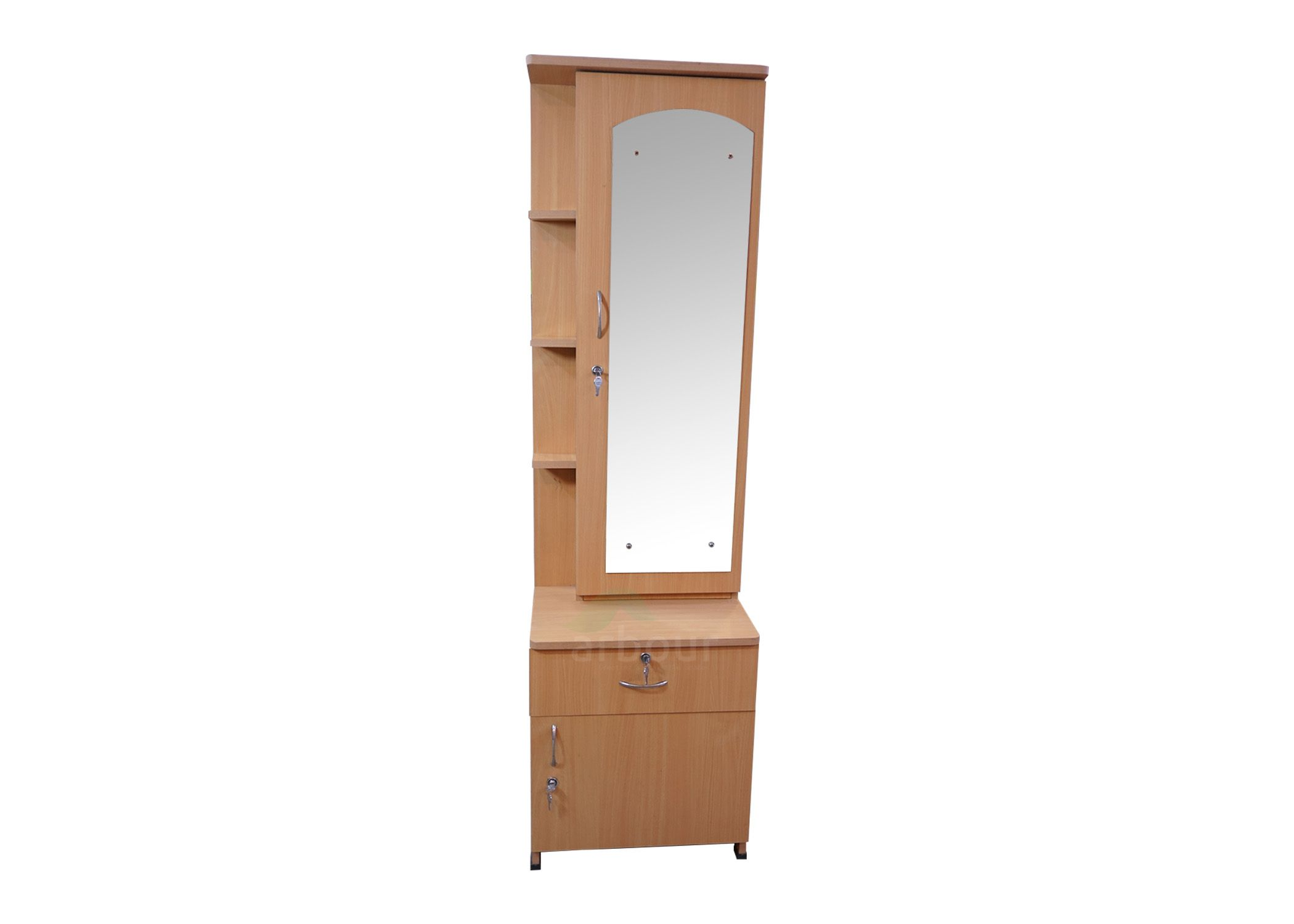 Wooden Dressing Table With Mirror And Drawers