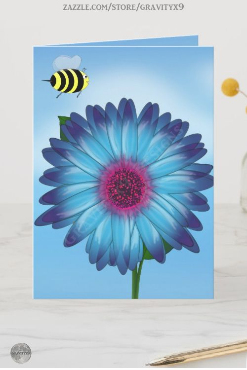 *  Cute Honey Bees Meeting on Blue Flower Card by #gravityx9 at  Zazzle * Two cute bees getting together for a date, date night or lunch date. Fun card to invite a friend for a casual get together. * cards for fun * greeting cards ideas * first date greeting cards custom * greeting cards customize * cards to say hi * cards to say hello * friendship greeting card * #greetingcards #customgreetingcards #customcards #gettogether #lunchdate #bees #valentinesday #valentinesdaycard #firstdate 0220