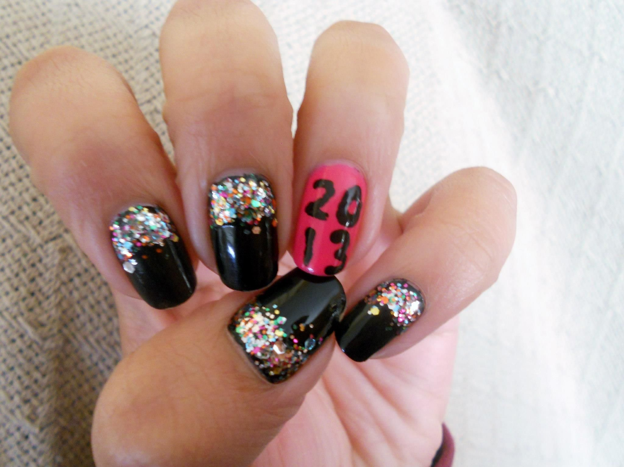 New Years Nails ) Nail polish art, New year's nails