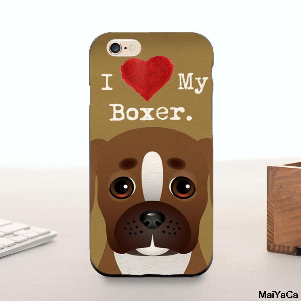 Silicone case i love my boxer dog puppies fashion original cute