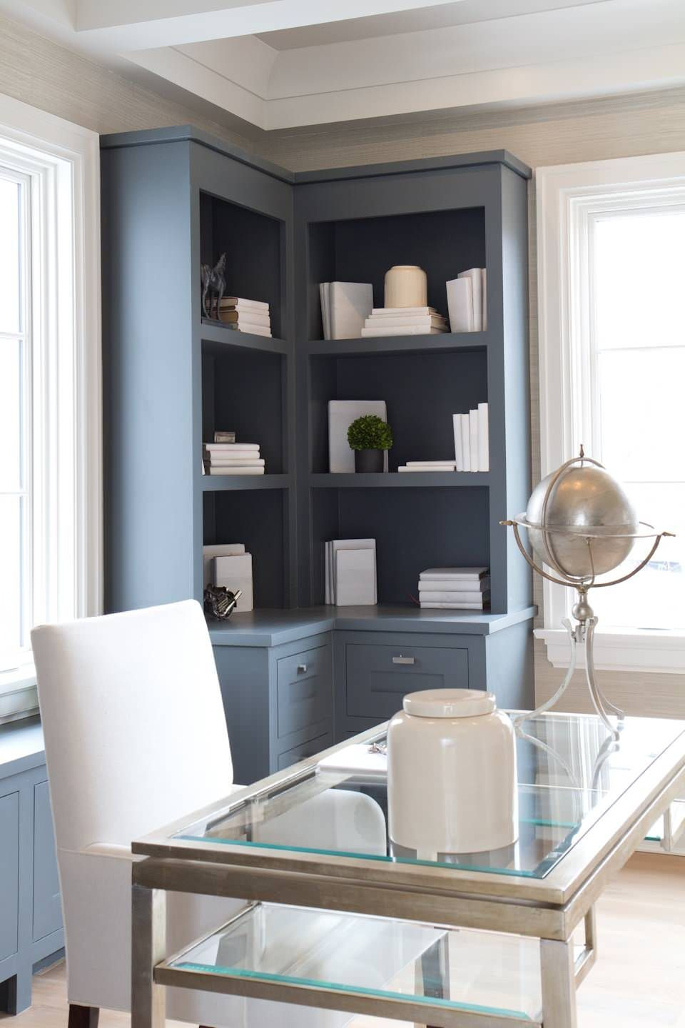 10 corner cabinets that win at storage contemporary home on smart corner home office ideas id=54611
