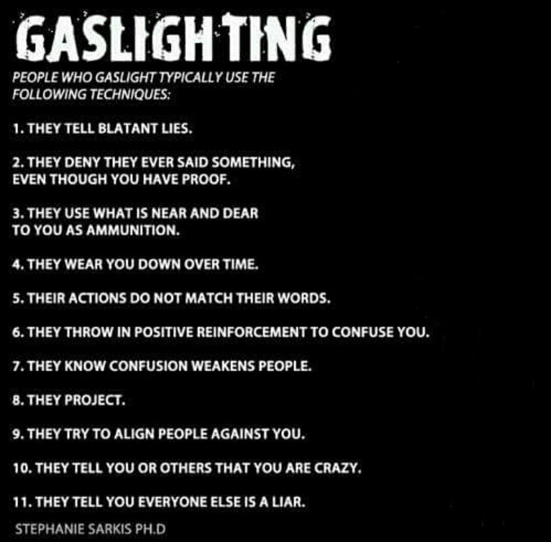 what to do when you are being gaslighted