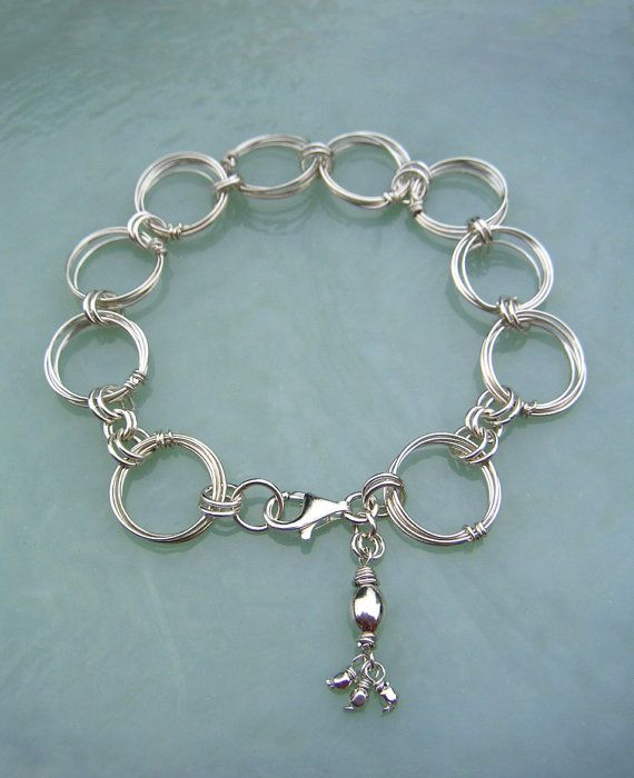 Silver Rings Bracelet Wire Jewelry Large by BellantiJewelry, $82.00 ...