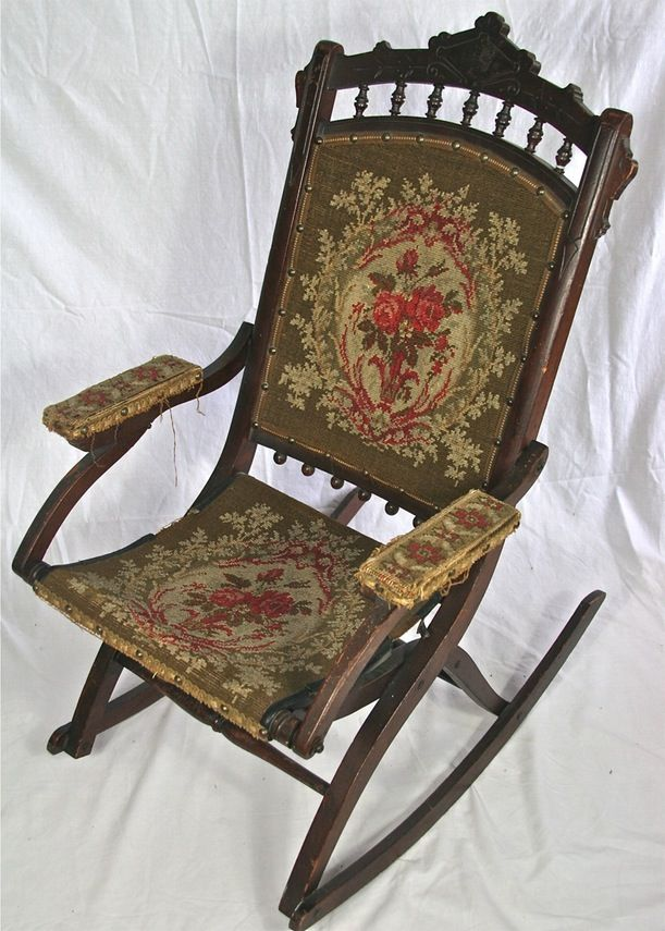 Amazing Antique Eastlake Victorian Folding Rocking Chair Chairs Pdpeps Interior Chair Design Pdpepsorg