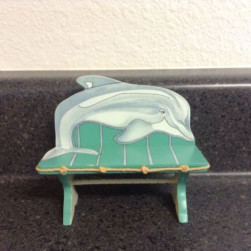 B11-Dollhouse-Miniature-Dolphin-Bench-in-1-12-Scale-Accessories-Beach-Nautical