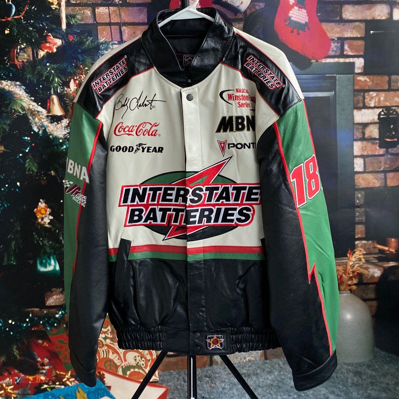 Vintage Bobby Labonte Interstate Batteries Nascar Authentic Drivers Line Leather Jacket By Deutschepost On Etsy Vintage Leather Jacket Leather Jacket Fashion [ 1280 x 1280 Pixel ]