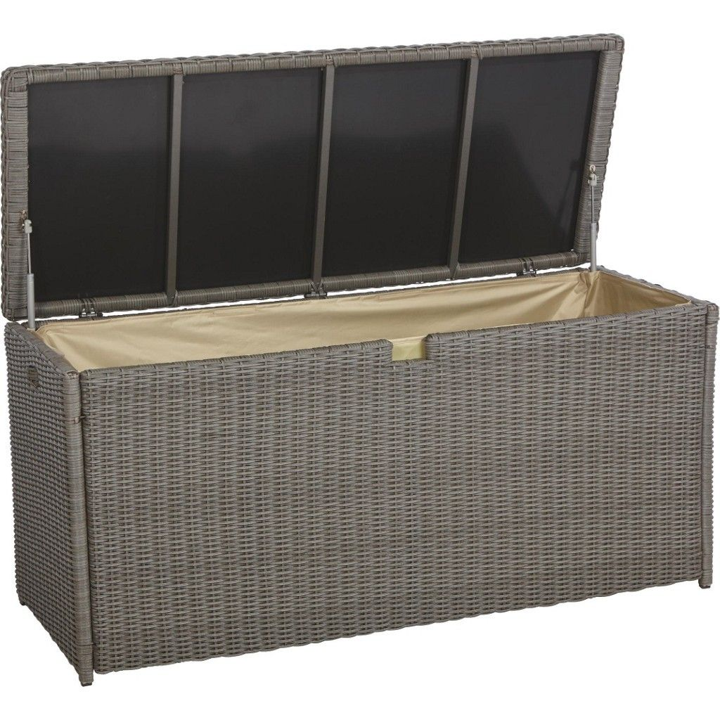 Ambia Möbel ambia garden kissenbox kunststoff metall grau jetzt bestellen unter