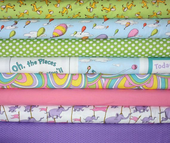 Dr Seuss Oh The Places Youll Go Quilt Or Craft Fabric By