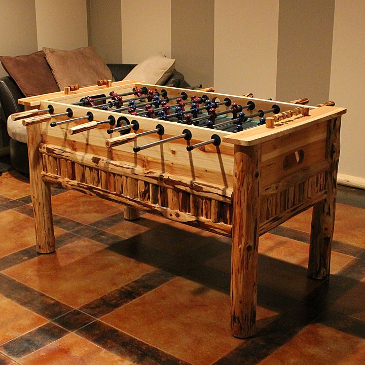 Log Foosball Table
