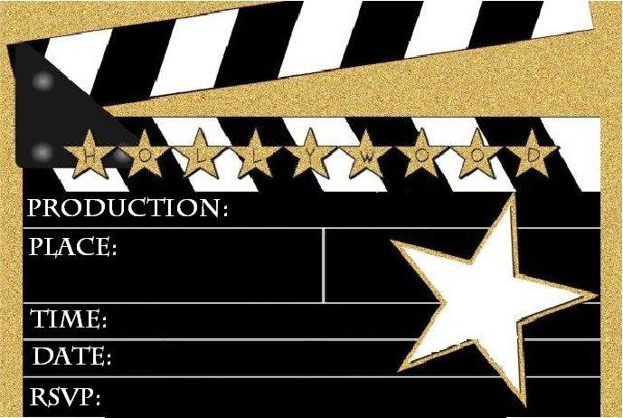 Free Hollywood Invitation Templates Hollywood Birthday