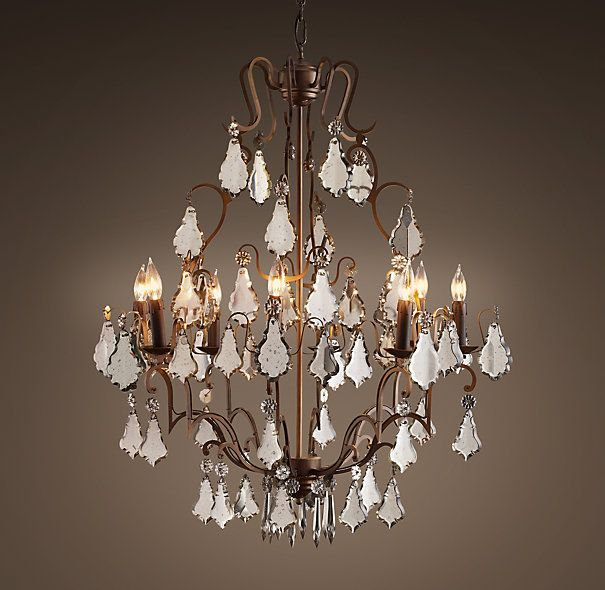 Florian Mercury Glass Chandelier Medium | Chandeliers ...