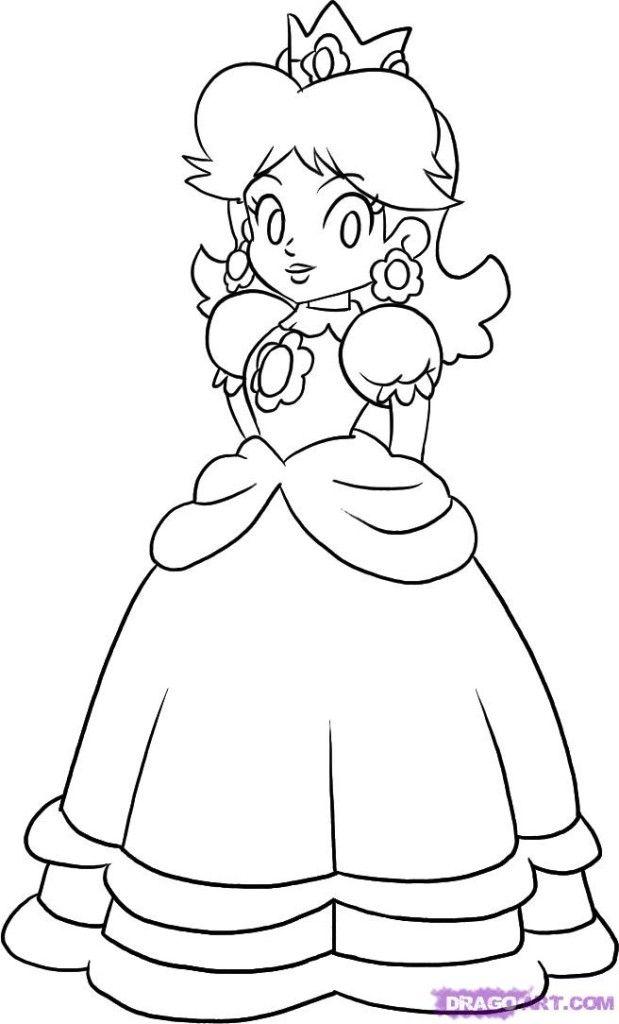Coloring Princess Daisy Super Mario Coloring Pages Mario Coloring Pages Princess Coloring Pages