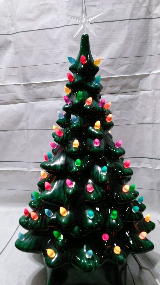 vintage 19 ceramic christmas tree flawless many many bulbs vintage ceramic christmas tree bulbs