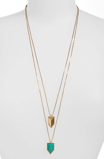 Vince Camuto 'Clearview' Double Pendant Necklace (Nordstrom Exclusive) available at #Nordstrom