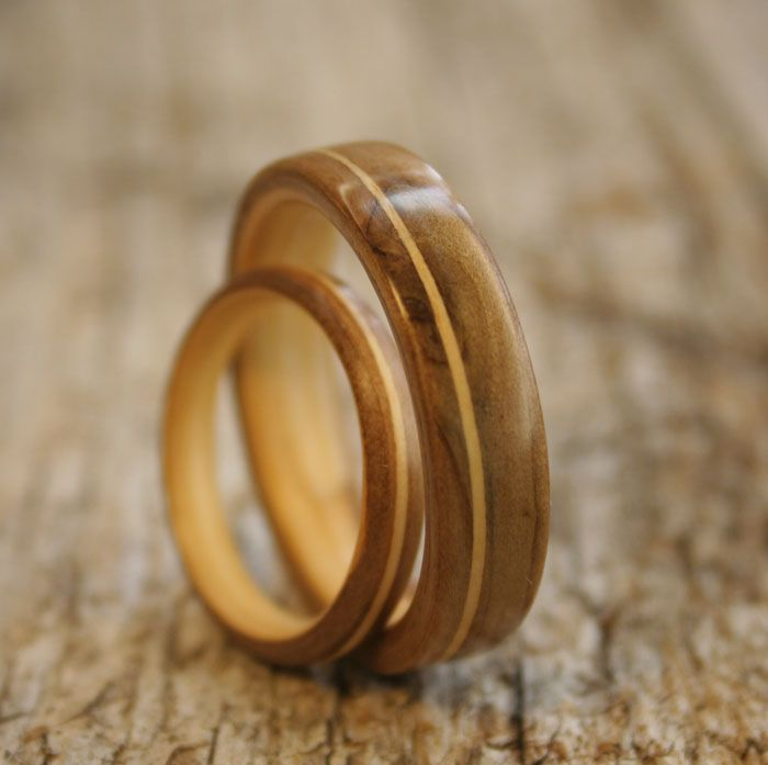 simple wooden wedding ring - Wooden Wedding Rings